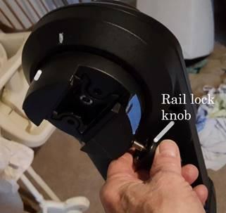 rail lock knob